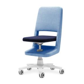 moll s9 Designdrehstuhl unique hellblau-blau