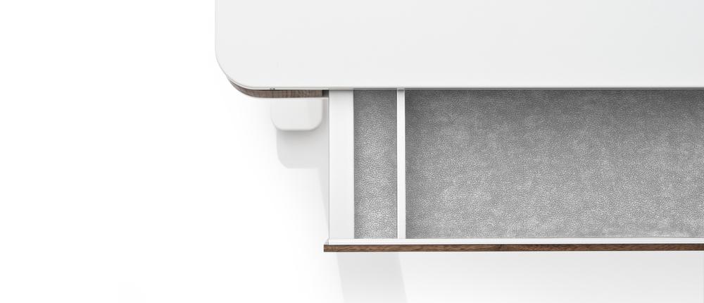 moll unique elektrisch hoehenverstellbarer Schreibtisch T7 Nussbaum