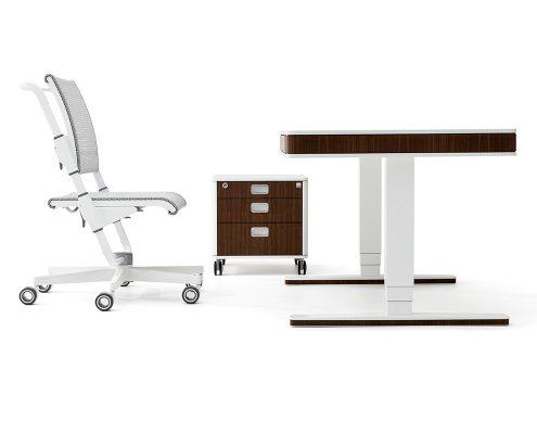 designmöbel von moll unique designschrebtisch T7 designdrehstuhl S9 höhenverstellbar made in germany