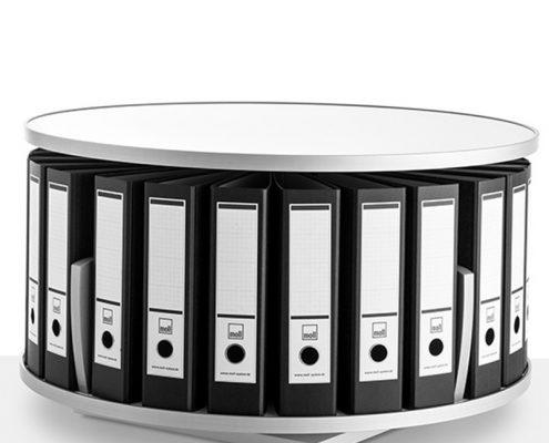 moll rotafile platzsparende drehsäule modell tischgerät