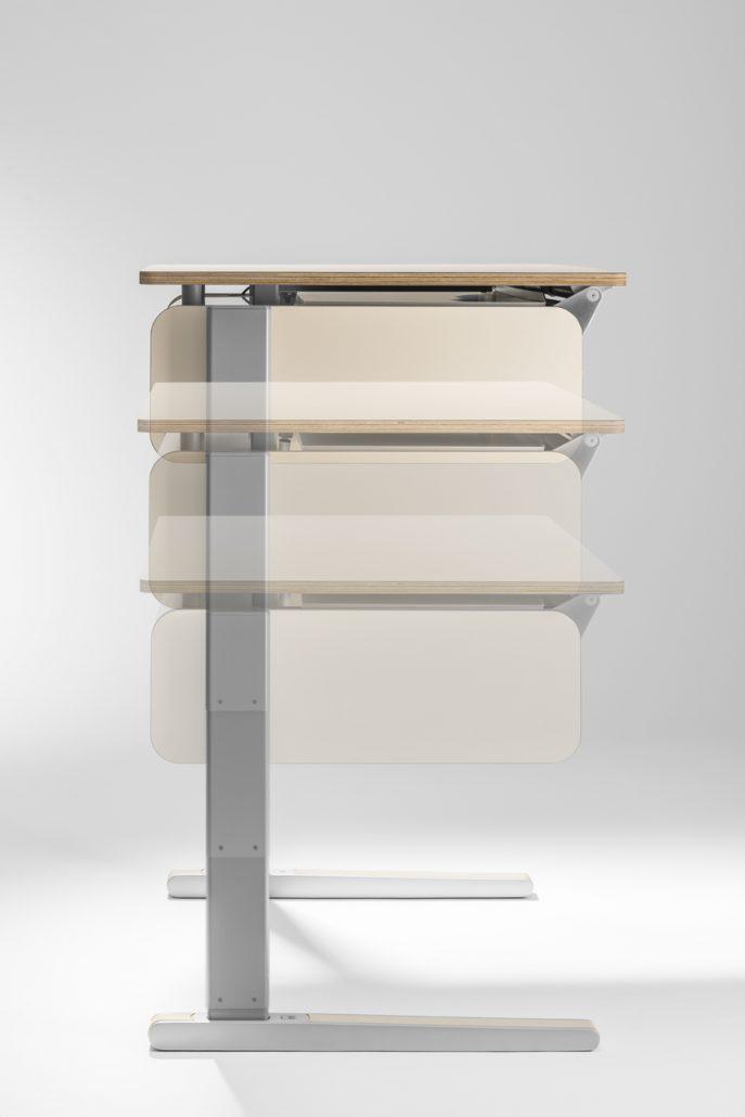 moll t5 h henverstellbarer schreibtisch f r home office oder privat. Black Bedroom Furniture Sets. Home Design Ideas